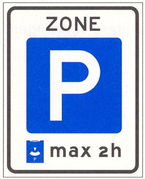 Verkeersbord Parkeerschijfzone-E10