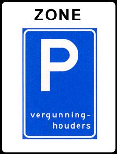 Verkeersbord Parkeren vergunninghouders-E9